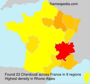 Surname Cherdoudi in France