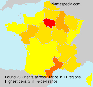Surname Cherifa in France