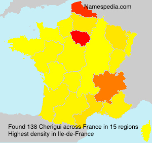 Surname Cherigui in France