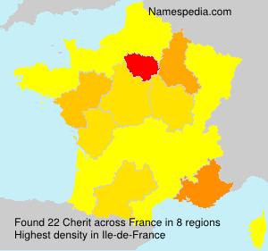 Surname Cherit in France