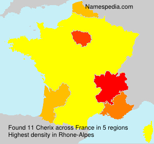 Surname Cherix in France