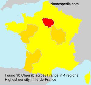 Surname Cherrab in France
