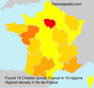 Surname Chester in France