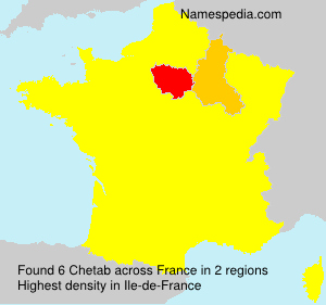 Surname Chetab in France