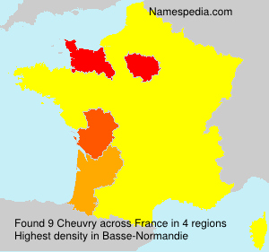 Surname Cheuvry in France
