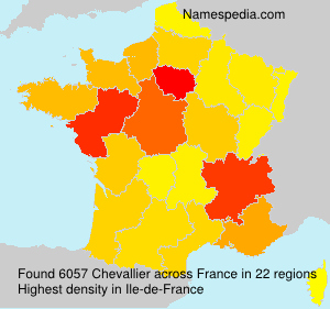 Surname Chevallier in France