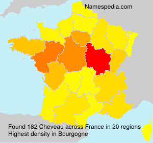 Surname Cheveau in France