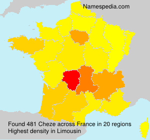Surname Cheze in France
