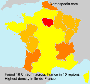 Surname Chiadmi in France