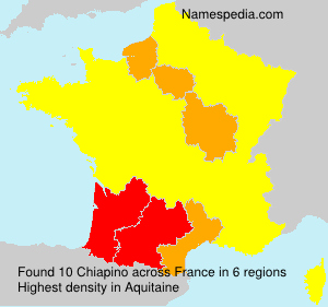 Surname Chiapino in France