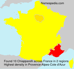 Surname Chiapparelli in France