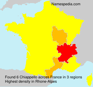 Surname Chiappello in France