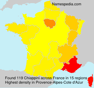 Surname Chiappini in France