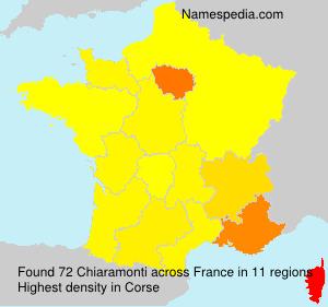 Familiennamen Chiaramonti - France
