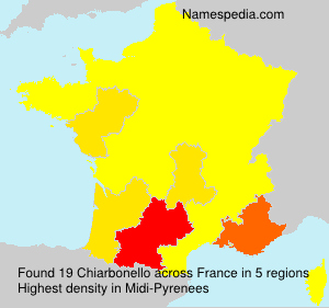Familiennamen Chiarbonello - France