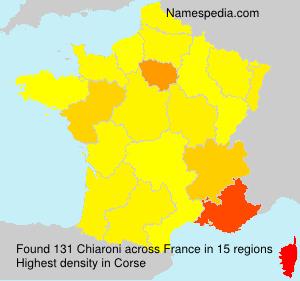 Surname Chiaroni in France