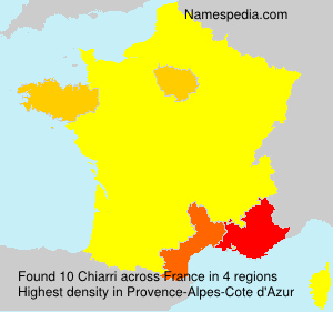 Surname Chiarri in France