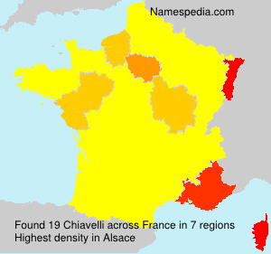Surname Chiavelli in France