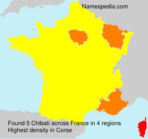 Familiennamen Chibati - France