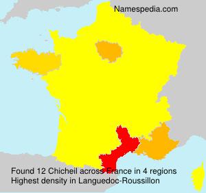 Surname Chicheil in France
