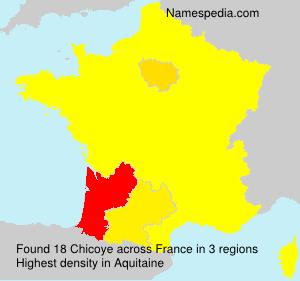 Familiennamen Chicoye - France