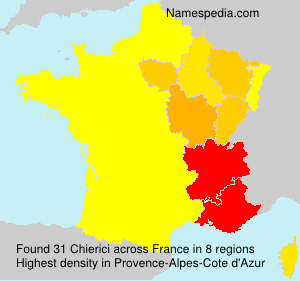 Surname Chierici in France