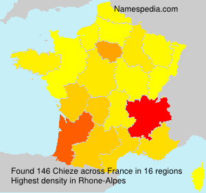 Surname Chieze in France