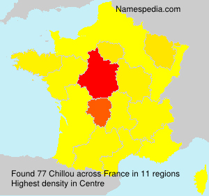 Surname Chillou in France