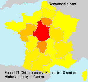 Surname Chilloux in France