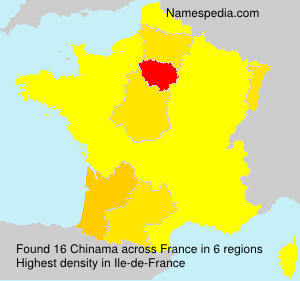 Surname Chinama in France