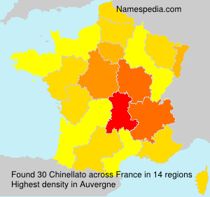 Surname Chinellato in France
