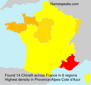 Surname Chinelli in France