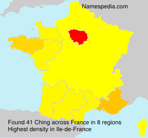 Surname Ching in France