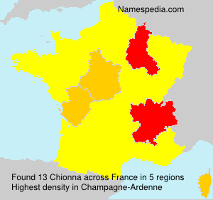 Familiennamen Chionna - France