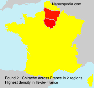 Surname Chirache in France