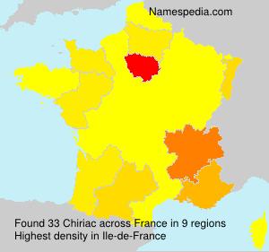 Familiennamen Chiriac - France