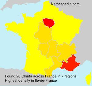 Surname Chirita in France