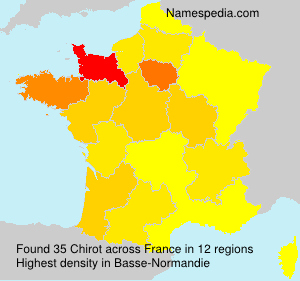 Surname Chirot in France