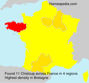 Surname Chisloup in France