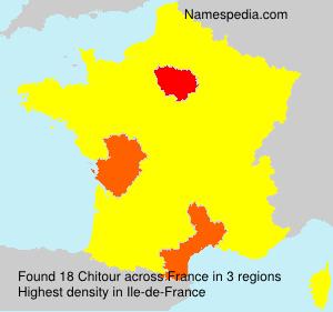 Familiennamen Chitour - France