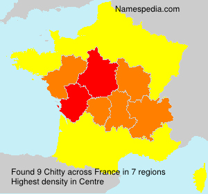 Surname Chitty in France