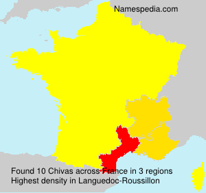Surname Chivas in France