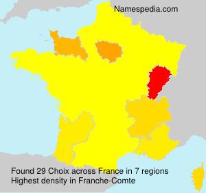Familiennamen Choix - France