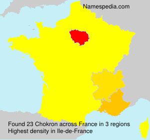 Surname Chokron in France