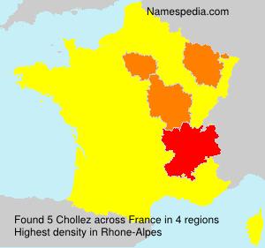 Familiennamen Chollez - France