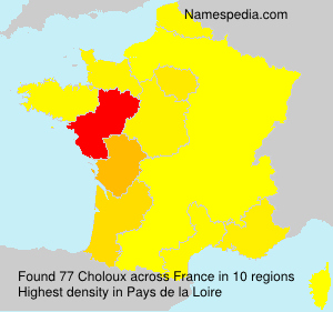 Surname Choloux in France