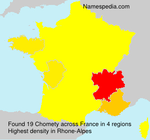 Surname Chomety in France