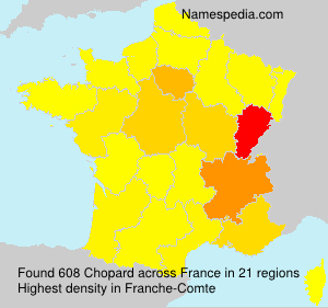 Surname Chopard in France
