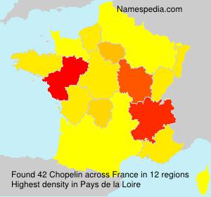 Surname Chopelin in France