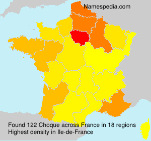 Surname Choque in France